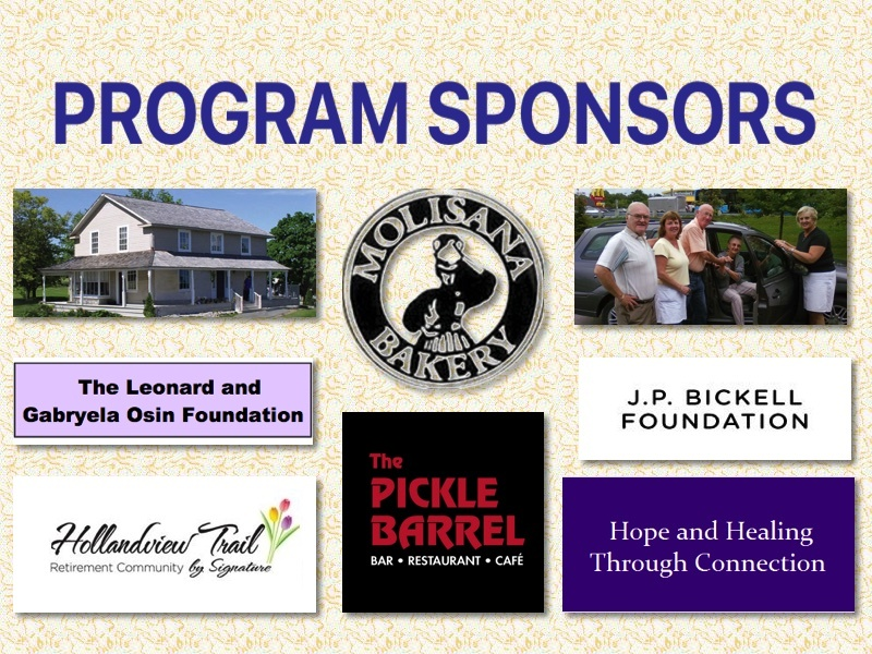 Our sincere thanks to these Sponsors for supporting Doane House Programs